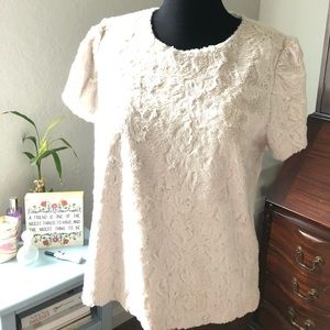 Anthropologie Fluffy Sweater Tee - Size XL